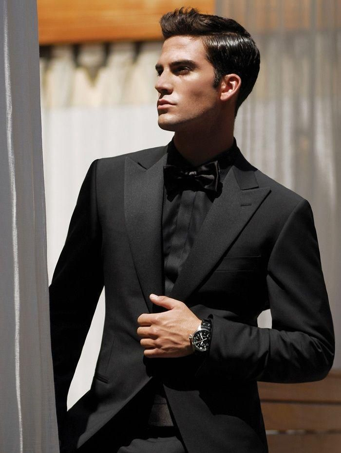 New-Arrival-Fashion-Black-Men-Tuxedos-Peaked-Lapel-Wedding-Suits ...