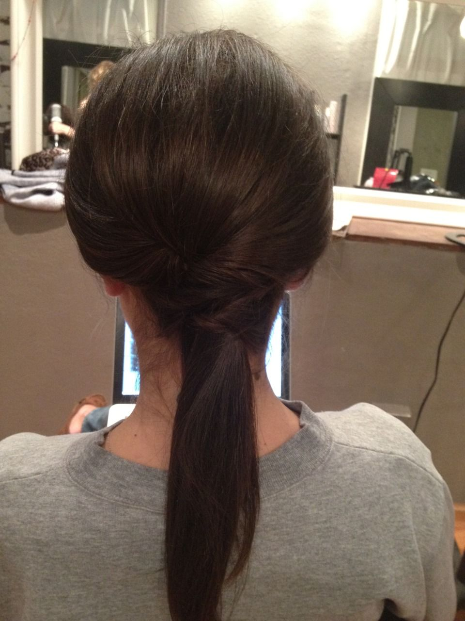 One of our very own sleek ponytails!