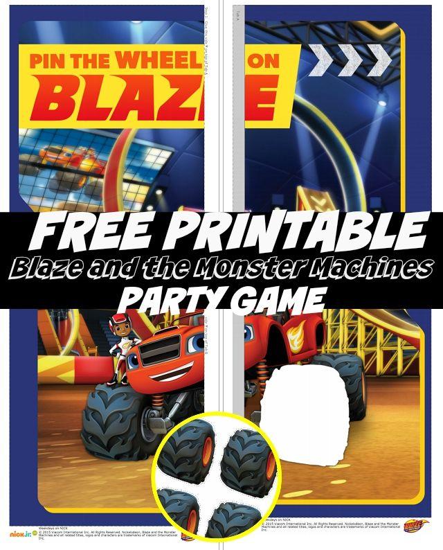 FREE Printable Blaze And The Monster Machines Nick Jr