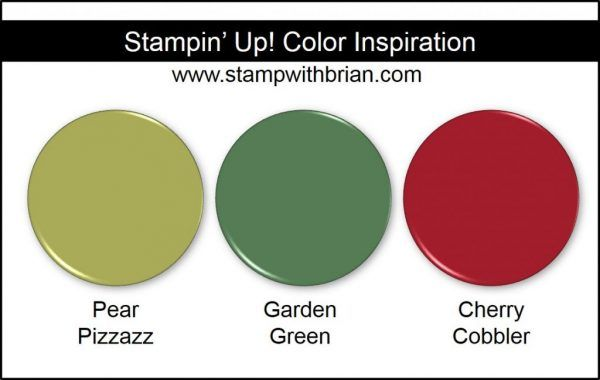 Stampin Up Color Inspiration Pear Pizzazz Garden Green Cherry