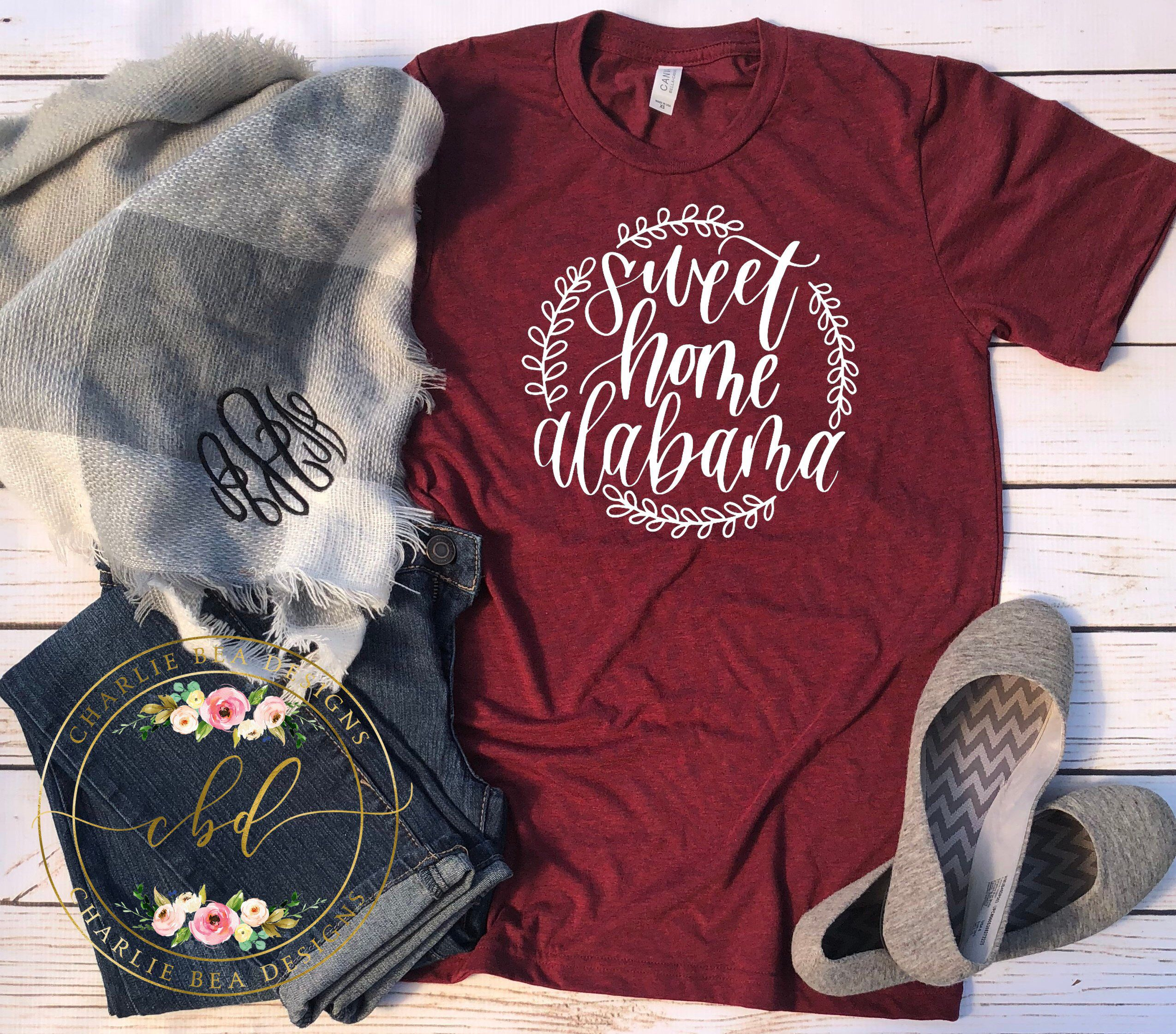 Sweet Home Alabama Shirt Sweet Home Alabama Alabama Etsy In 2020 Alabama Shirts Alabama T Shirts Fall Tee Shirts