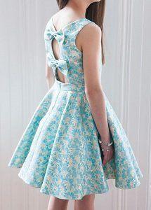Espalda Niñas De Para Con La En Vestido Niña Vestidos Escote Lazos qaBx8wTwv