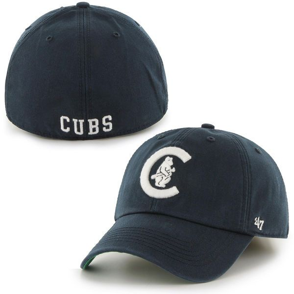bd61e05f589 Mens Chicago Cubs  47 Brand Navy Blue Franchise Cooperstown Collection  Fitted Hat