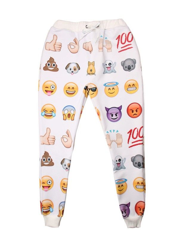 Emoji Sweatpants White Emoji Jogging Pants Men Women Boys Wsdear Com Jogging Pants Men Emoji Sweatpants Jogging Pants