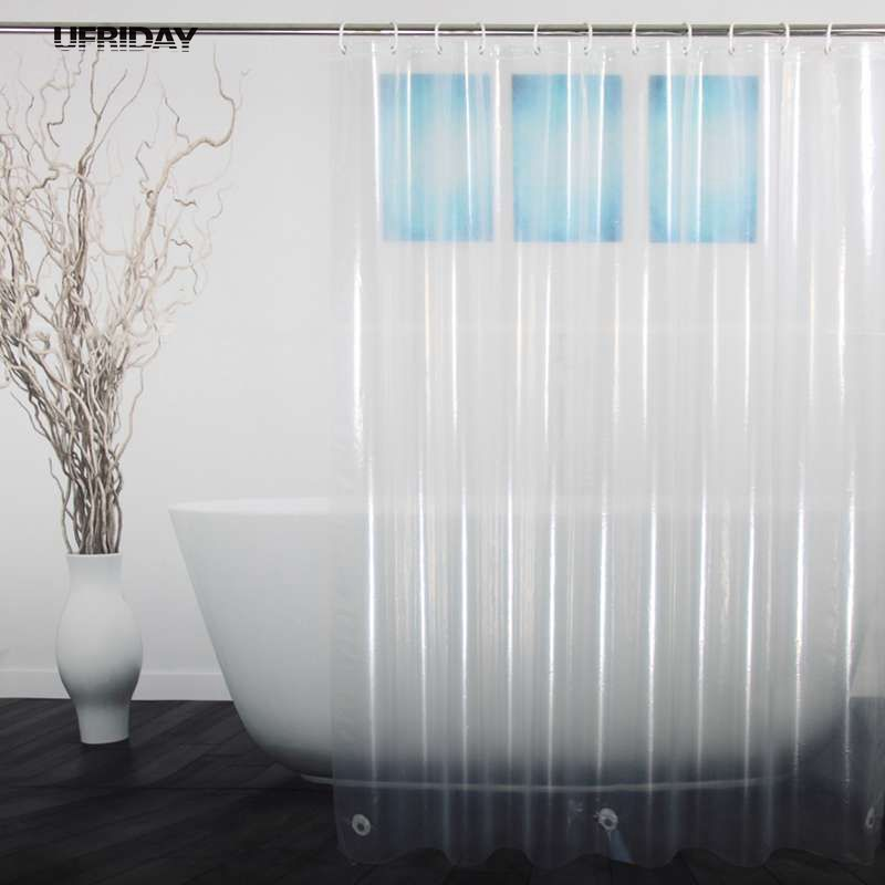 Click Image To Buy UFRIDAY PEVA Shower Curtain Transparent Liner With Magnets Bottom Waterproof