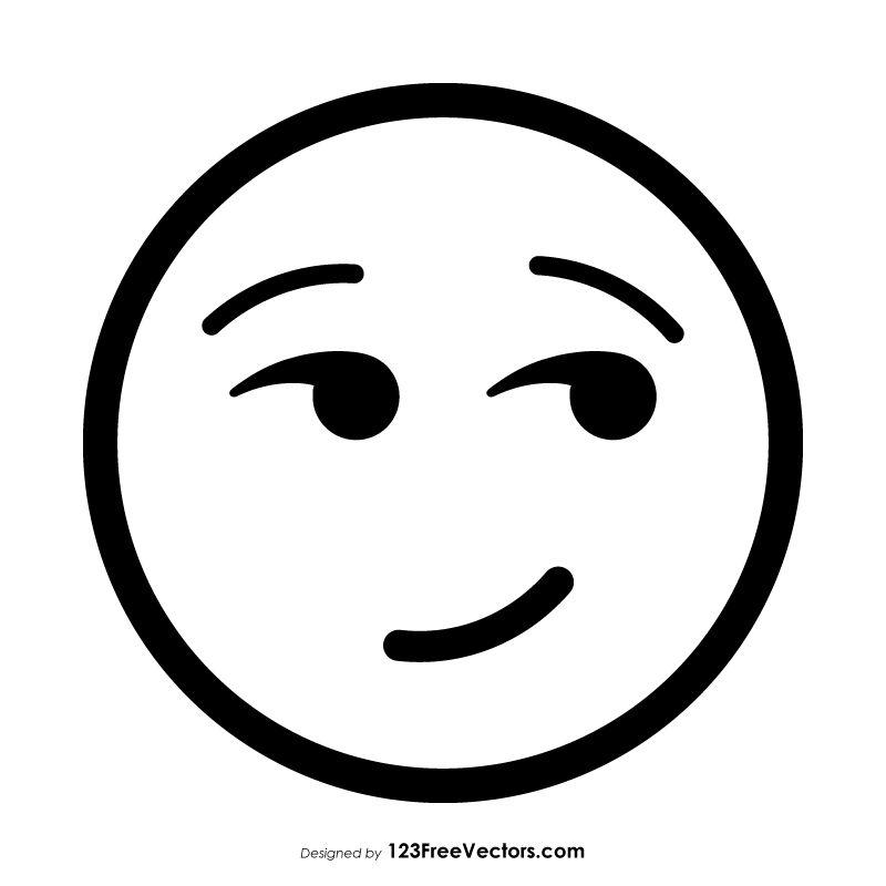 Smirking Face Emoji Outline Black And Grey Tattoos Emoji Coloring Pages Celtic Tattoo Symbols