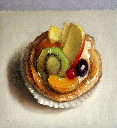 Still life with fruit tart