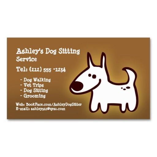 Customizable Dog Sitting Grooming Walking Business Card Templates Dog Walker Business Cards Dog Sitting Dog Walking Business