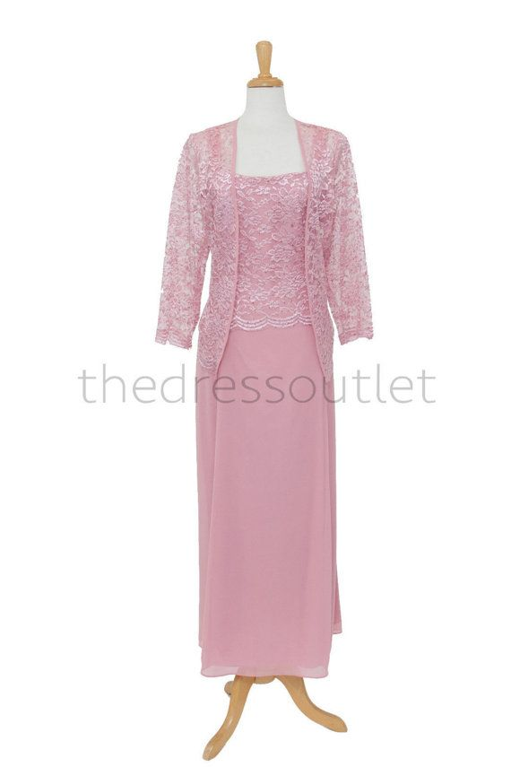 Dusty Rose Semi Formal Gown Plus Size Simple by TheDressOutlets ...