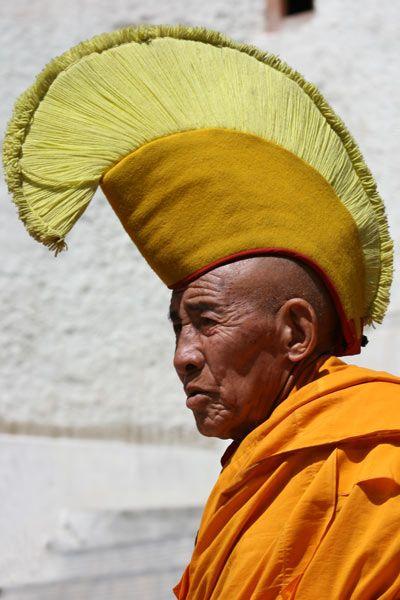 Yellow Hat Lama at Spituk Monastery in Ladakh 3c88bccf860
