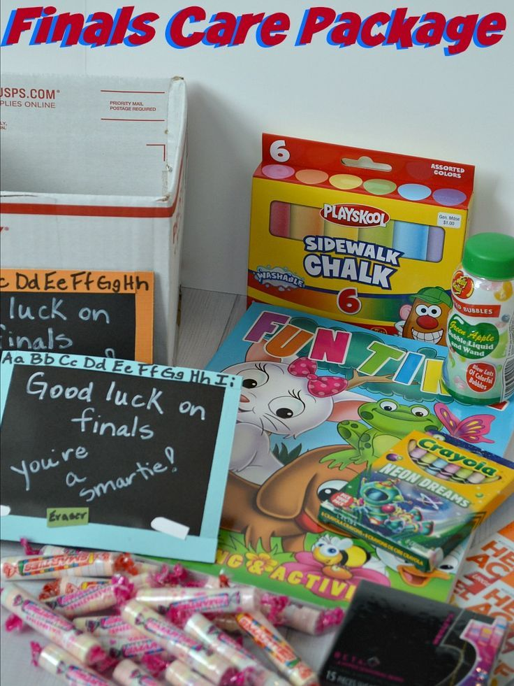College Finals Care Package You Can Make Today is part of Organization College Finals - Finals can be an incredibly stressful time for students  Make this fun college finals care package today to lift their spirits and let them know you care