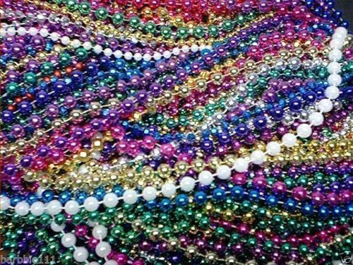 200-Mardi-Gras-Beads-Bulk-Lot-Necklaces-Free-Shipping-Party-Favors-Multi-color