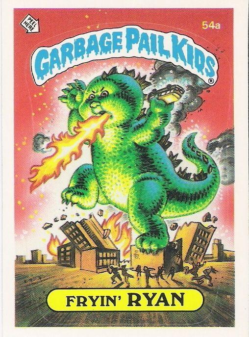 Garbage Pail Kids Series 2 Matte Fryin Ryan 54a Garbage Pail Kids Cards Garbage Pail Kids Pail