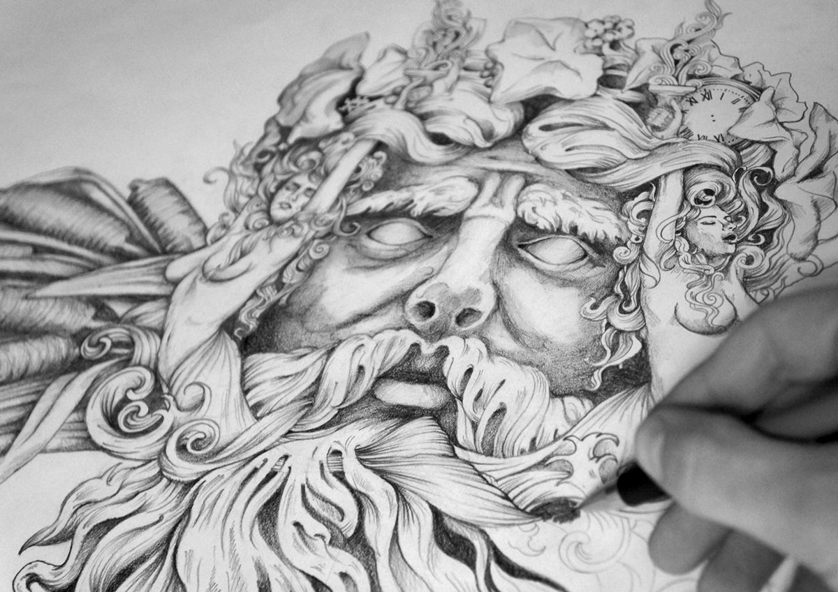 'Bacchus' - Composition Sketch V2 on Behance