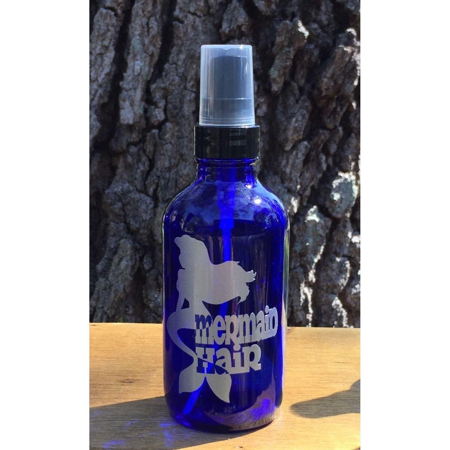 Oz Glass Spray Bottle W Metallic Silver Mermaid Hair Precision - Vinyl stickers for glass bottles