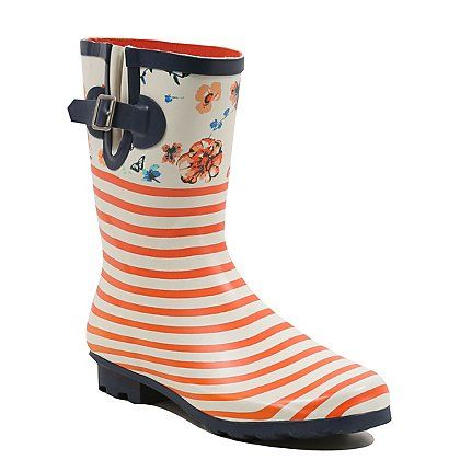 FLORAL WELLY WOMENS BOOTS   Women
