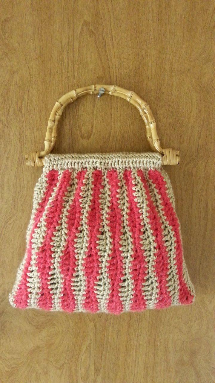 31378af212b7 Crochet Wavy Stitch Handbag Purse #TUTORIAL | Bag | Crochet bag ...
