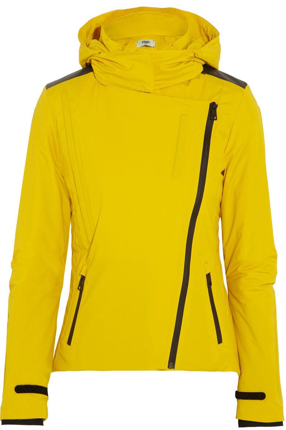 Fendi Hooded twill ski jacket Ski jacket, Jackets