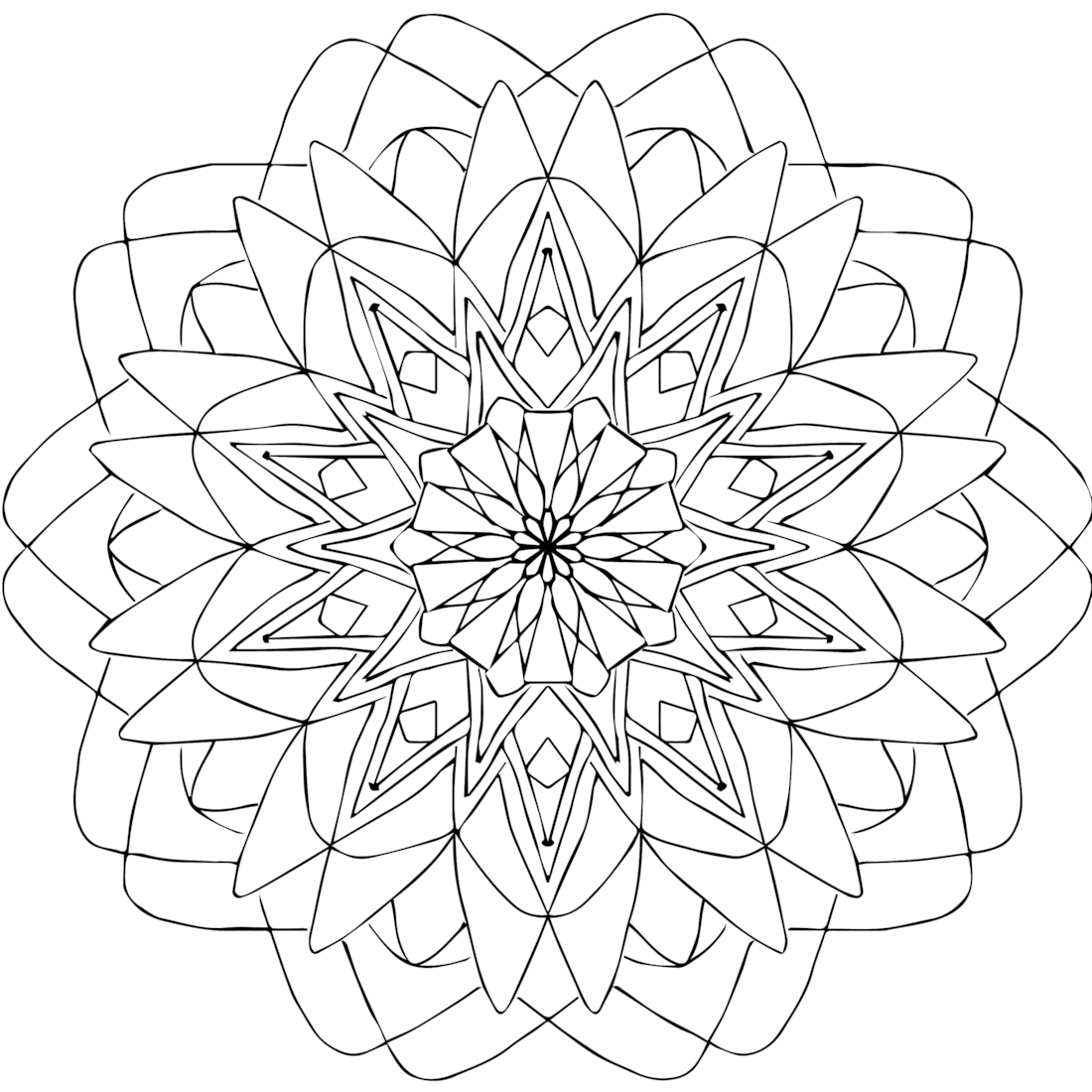 There Are Eight Categories Of Snowflakes According To Studies The Types Of Crystals That Form Mandala Coloring Pages Mandala Coloring Detailed Coloring Pages