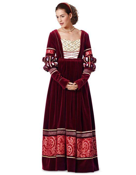 7171 BURDA Schnittmuster historisches Kleid   Historisches ...