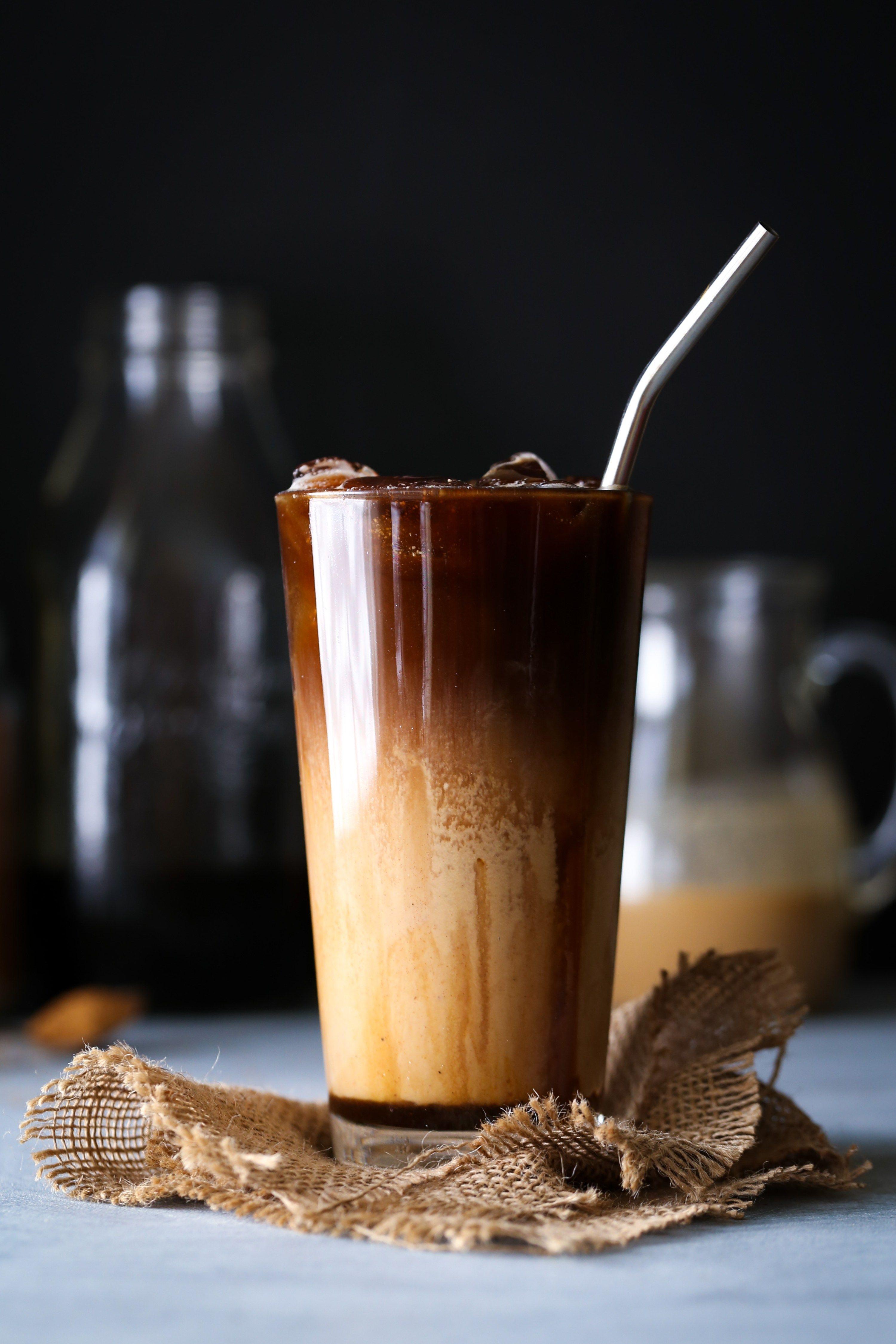 Salted Caramel Coffee Creamer + Iced Latte Recipe