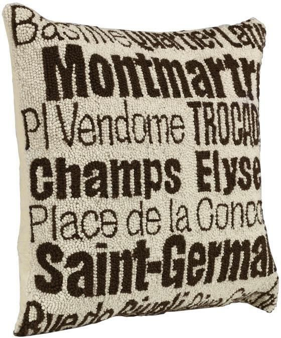 Gift Idea: City Hand Hooked Pillow. #GiftIdeas HomeDecorators.com