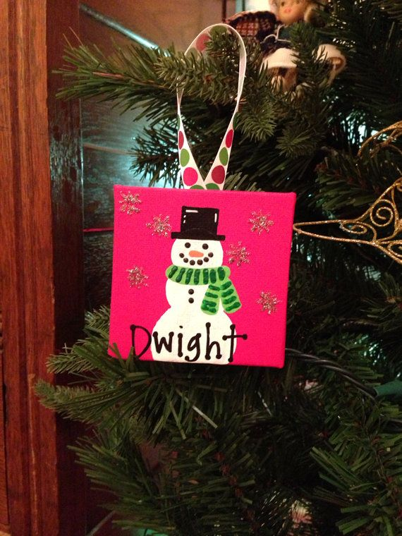 Mini Canvas Ornament by AnnaGsCC on Etsy; $5.00
