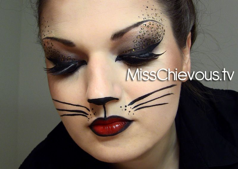 a classic halloween cat cute party kitten or glamorous goddess with cat like eyes theres a feline inspired makeup design for every occasion - Scary Cat Halloween Costume