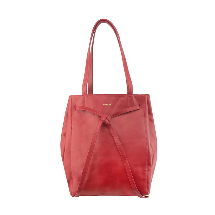 Manzoni Red Two Handed Tote - #travelbag #leatherbag