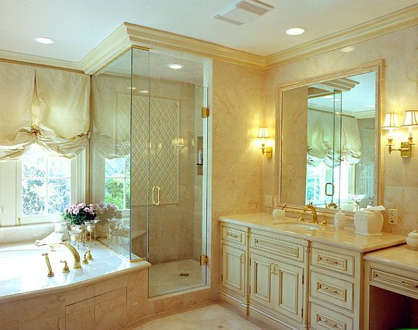 How To Install Crown Molding Step By Step Guide Traditional Bathroom Designs Traditional Bathroom Bathroom Design