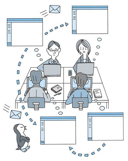 Interoffice Communication Japanese Illustration Pinterest - inter office communication