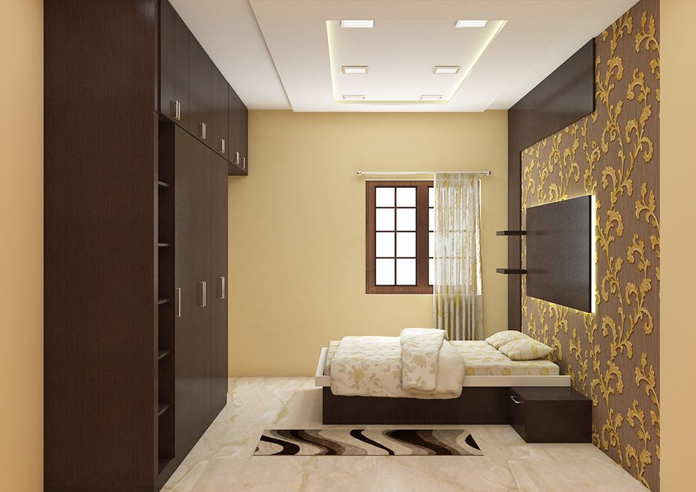 Bedroom Furniture Bangalore contemporary bedroom furniture set, made up of plywood with