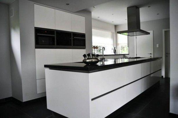 Zwart Wit Keuken : Zwart wit keuken greeploos kitchen inspirations