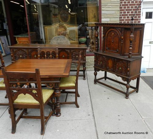1930u0027s Jacobean Dining Room Set.
