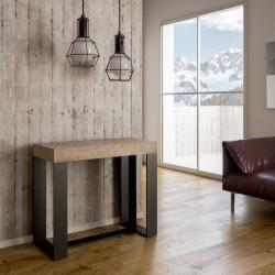 Photo of Tavolo consolle allungabile fino a 196 cm realizzato in legno melaminico made in Italy, Balme Viadurini Collezione livingV