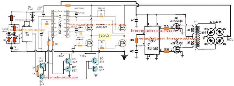 5kva Ferrite Core Inverter Circuit Full Working Diagram With Calculation Details Homemade Circuit Projects In 2020 Circuit Projects Circuit Circuit Diagram