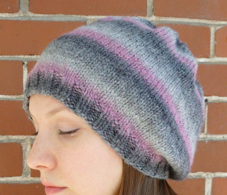 5adc04d6c73 Women s Knit Shimmer Slouch Hat - Women s Slouchy Hat - Slouchy Knit Hat -  Women s Knit Beret.  22.00