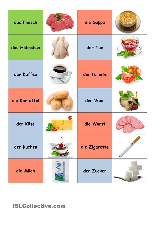 essen und trinken wortschatz in bildern deutsch unterricht deutsch lernen und deutsche sprache. Black Bedroom Furniture Sets. Home Design Ideas