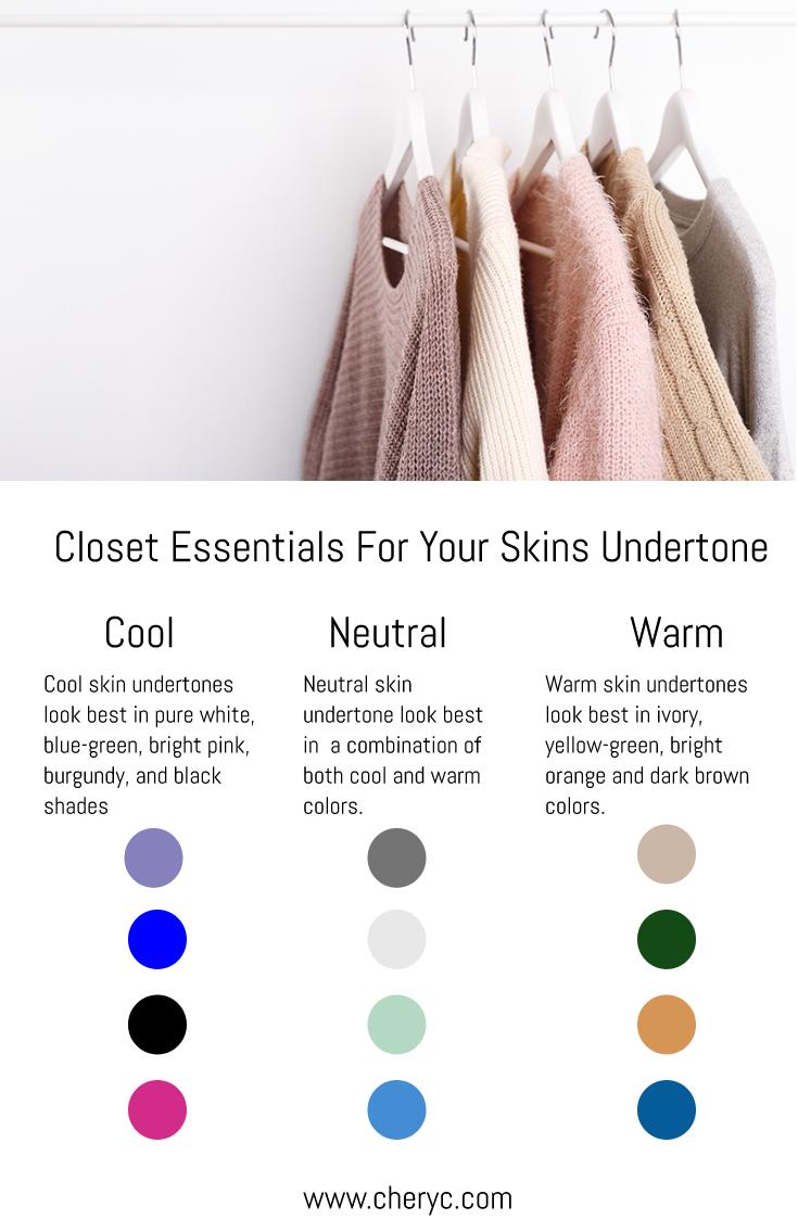 Closet Essentials For Your Skin Undertone Colors For Skin Tone Skin Undertones Yellow Undertone Skin
