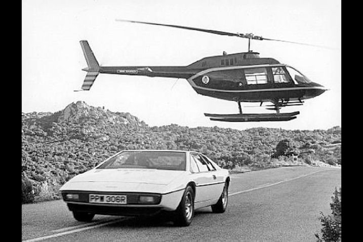 2. Lotus Esprit S1 in The Spy Who Loved Me: The Esprit was a handful for the stunt driver not accustomed to midengine dynamics. A Lotus rep did much of the driving instead.