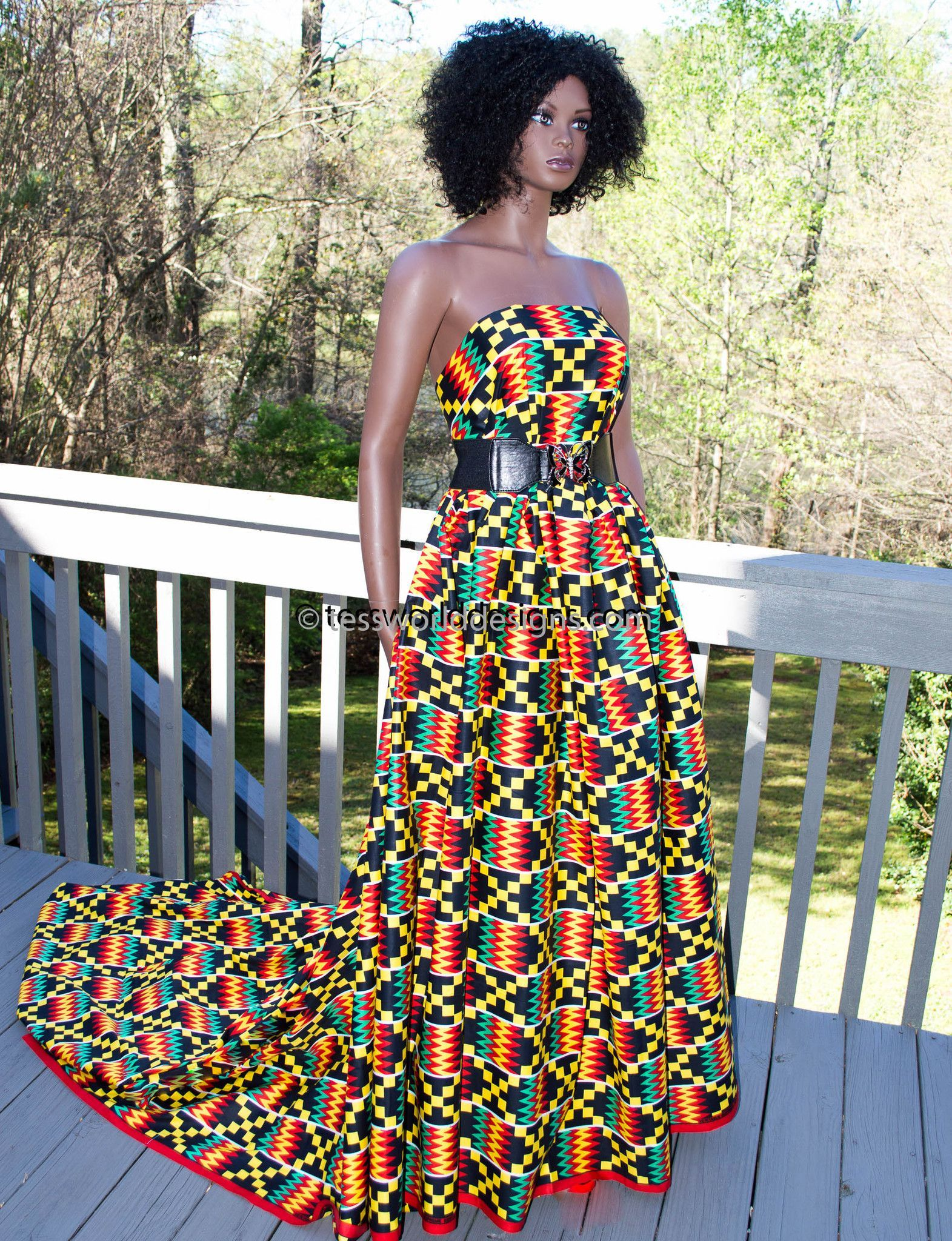 Kf kente fabric red yards fabrics africans and african
