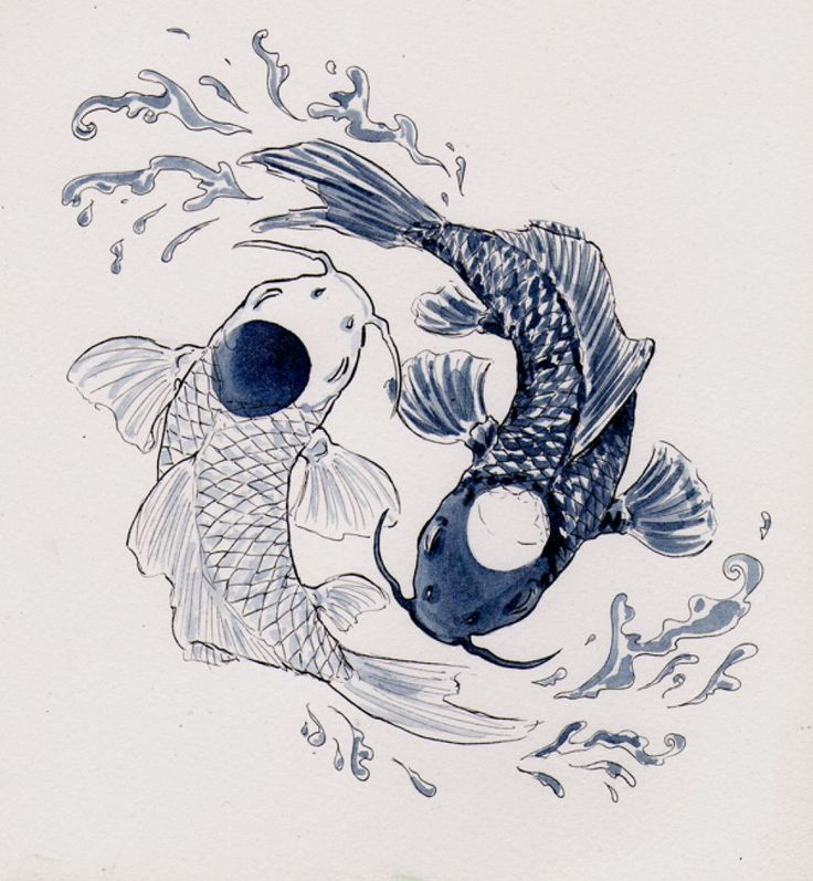 Pin by ed williams on fish flower tattoos pinterest yin yang yin yang koi fish tattoo tattoo design and art publicscrutiny Image collections