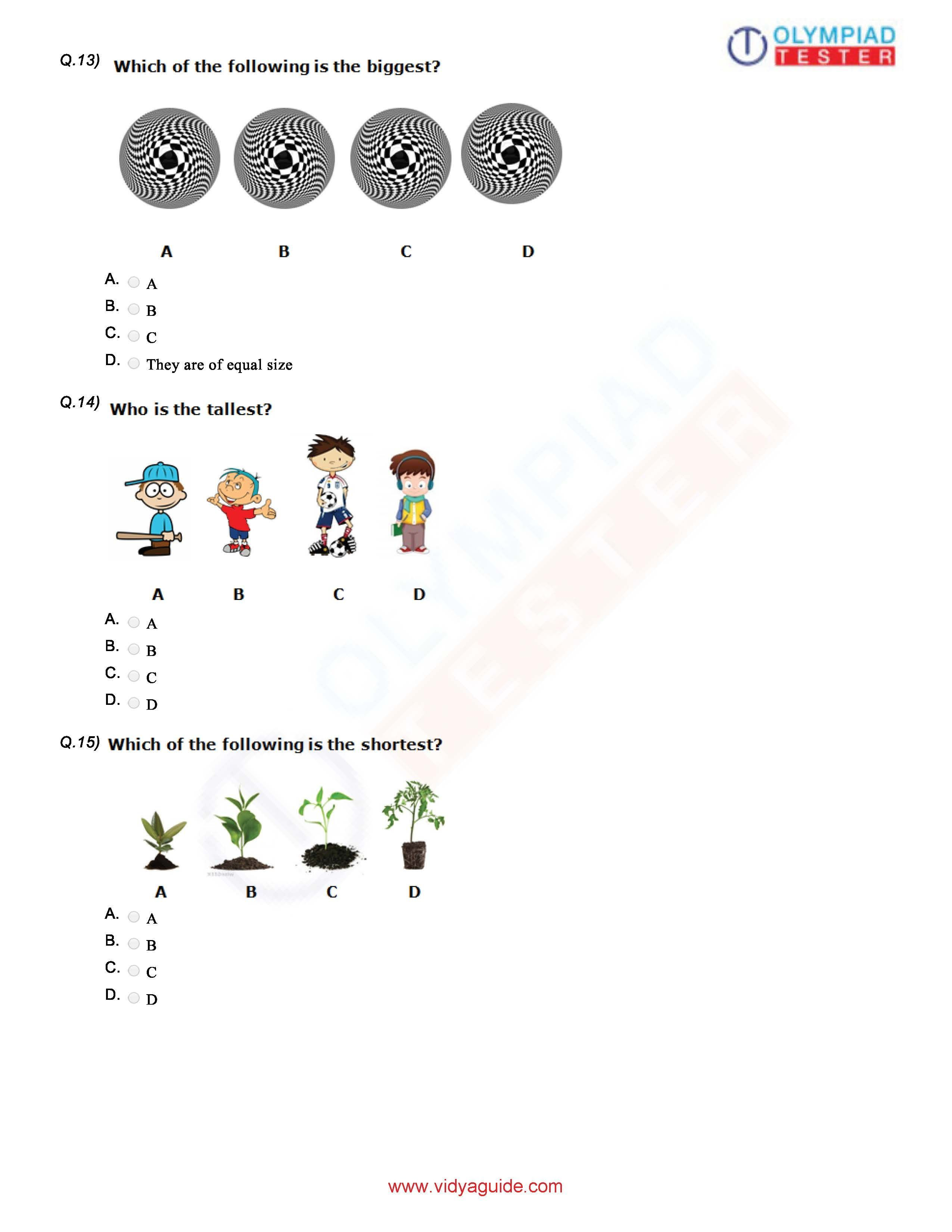 Download Class 1 Maths Olympiad Sample Papers As Pdf Worksheets On