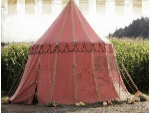 a pink tent..love....