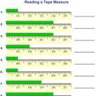 reading measuring a tape measure worksheets math measurement ruler measurements math. Black Bedroom Furniture Sets. Home Design Ideas