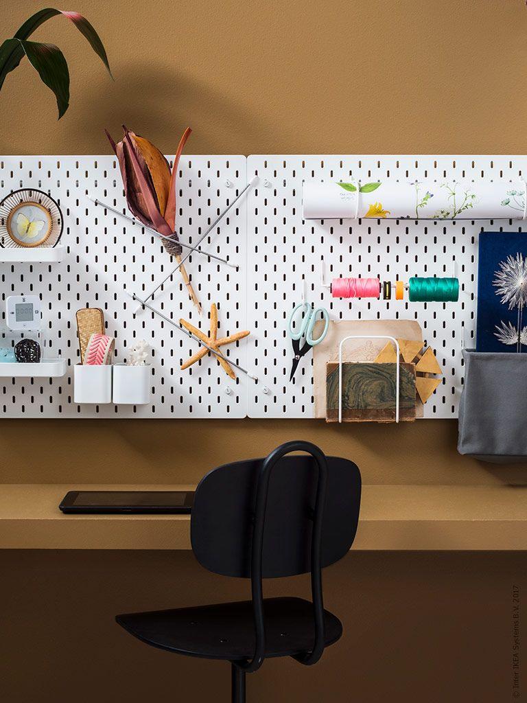 Ikea Deutschland Mit Der Skadis Lochwand Ist Dein Schreibtisch Immer Aufgeraumt Http Www Ikea Com De De Catalog Products S2921 Ikea Ikea Zuhause Lochwande