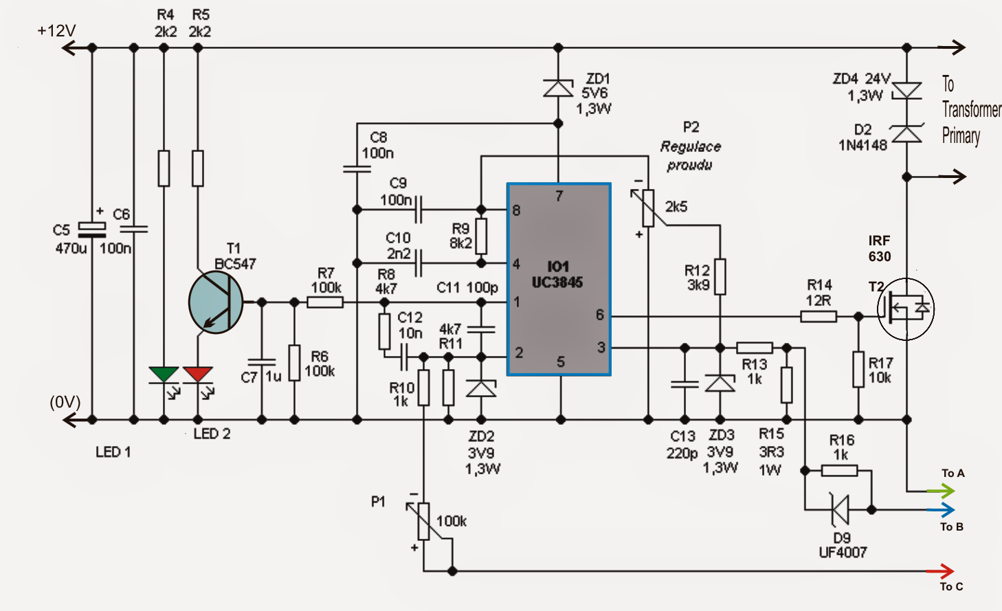 100v Variable Smps Circuit Projects Power Supply Circuit Switched Mode Power Supply