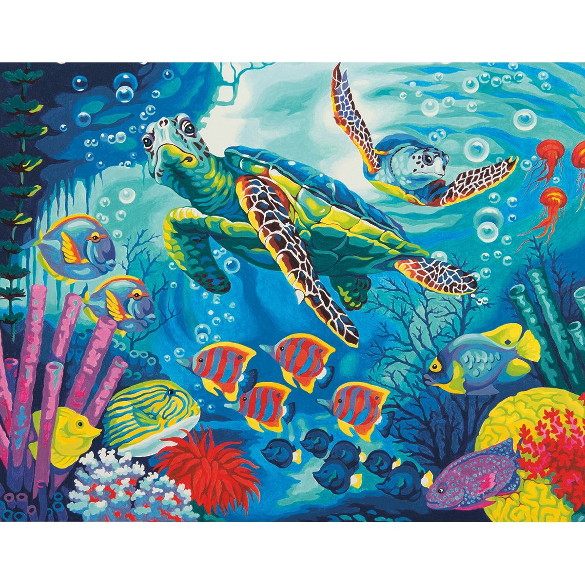 Paint By Number Kit: Sea Turtles. Dimensions brings you paint kits ...