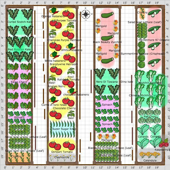 Garden Plan 2013 20x20 Garden With Images Vegetable Garden