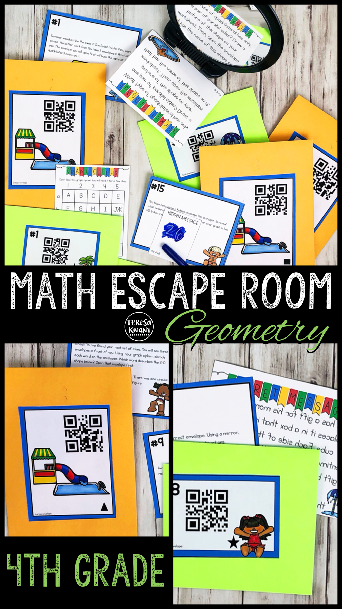 Cracking The Classroom Code 4th Grade Math Escape Room